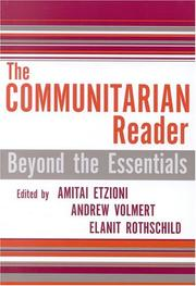 Cover of: The Communitarian Reader