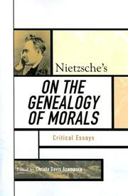 Cover of: Nietzsche's On the Genealogy of Morals