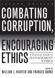 Cover of: Combating Corruption, Encouraging Ethics