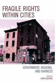 Cover of: Fragile Rights Within Cities