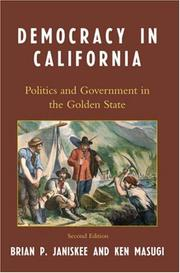 Cover of: Democracy in California