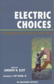 Cover of: Electric Choices