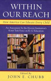 Cover of: Within Our Reach | John E. Chubb