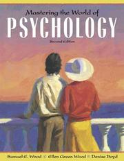 Cover of: Mastering the world of psychology