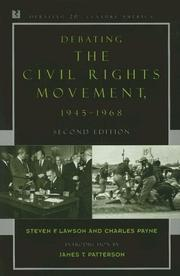 Cover of: Debating the Civil Rights Movement, 1945-1968 (Debating 20th Century America)