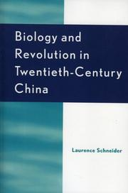 Cover of: Biology and Revolution in Twentieth-Century China
