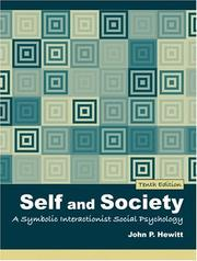 Cover of: Self and Society