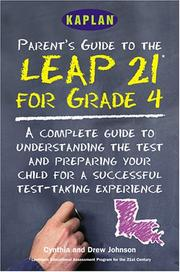Cover of: Parent's guide to the LEAP 21 tests for grade 4