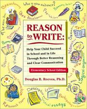 Cover of: Reason to Write