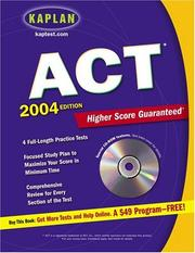 Cover of: Kaplan ACT 2004 with CD-ROM | Kaplan Publishing