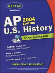 Cover of: AP U.S. History