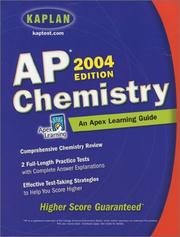 Cover of: AP Chemistry, 2004 Edition: An Apex Learning Guide
