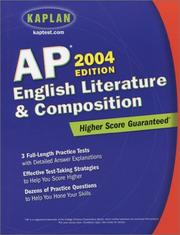 Cover of: Kaplan AP English Literature and Composition, 2004 Edition