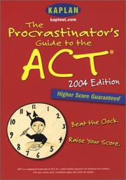 Cover of: The Procrastinator's Guide to the ACT