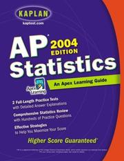 Cover of: AP Statistics, 2004 Edition: An Apex Learning Guide