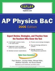 Cover of: Kaplan AP Physics B & C