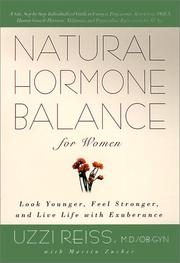 Cover of: Natural Hormone Balance For Women | Uzzi Reiss M.D./OB-GYN
