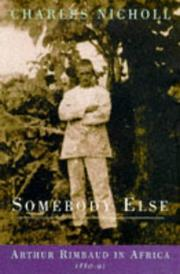 Cover of: Somebody else | Charles Nicholl