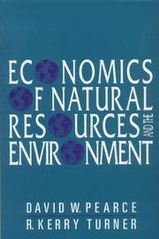 Cover of: Economics of natural resources and the environment