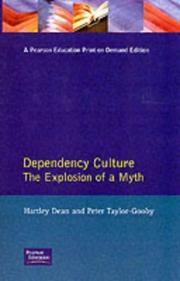 Cover of: Dependency culture | Hartley Dean