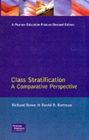 Cover of: Class stratification
