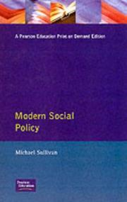 Cover of: Modern social policy
