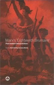 Cover of: Marx's Eighteenth Brumaire: (post)modern interpretations
