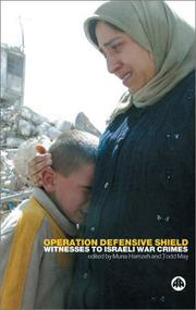 Cover of: Operation Defensive Shield