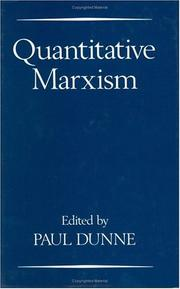 Cover of: Quantitative Marxism | edited by Paul Dunne.