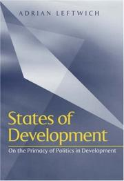 Cover of: States of Development | Adrian Leftwich