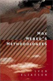 Cover of: Max Weber's Methodologies