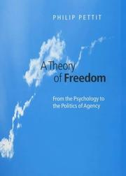 Cover of: A theory of freedom