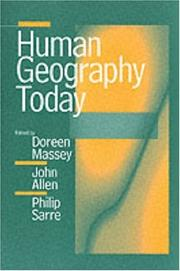 Cover of: Human Geography Today |