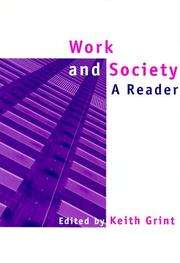 Cover of: Work and Society: A Reader