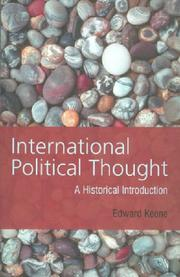 Cover of: International political thought | Edward Keene
