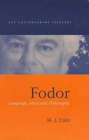 Cover of: Fodor | M. J. Cain