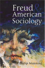 Cover of: Freud and American sociology