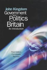 Cover of: Government and Politics in Britain