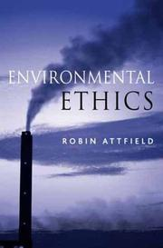 Cover of: Environmental Ethics