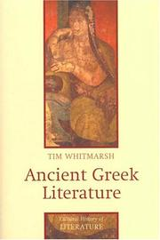 Cover of: Ancient Greek literature | Tim Whitmarsh