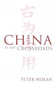 Cover of: China at the Crossroads | Peter Nolan