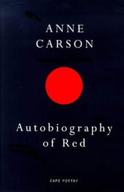 Cover of: Autobiography of Red (Cape Poetry)