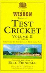 Cover of: The Wisden Book of Test Cricket |