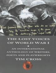 Cover of: The lost voices of World War I