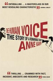 Cover of: The Human Voice | Anne Karpf