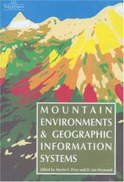 Cover of: Mountain Environments And Geographic Information Systems |
