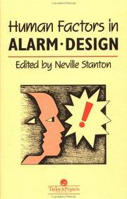 Cover of: The Human Factors Of Alarm Design | Neville A. Stanton