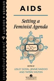 Cover of: AIDS: Setting A Feminist Agenda: Setting a Feminist Agenda (Gender and Society :Feminist Perspectives on the Past and Present)