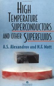 Cover of: High temperature superconductors and other superfluids