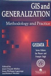 Cover of: GIS and generalization |